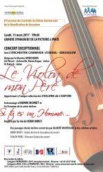 Concert exceptionnel à l'occasion de la sortie du livre «Si tu es un homme …»